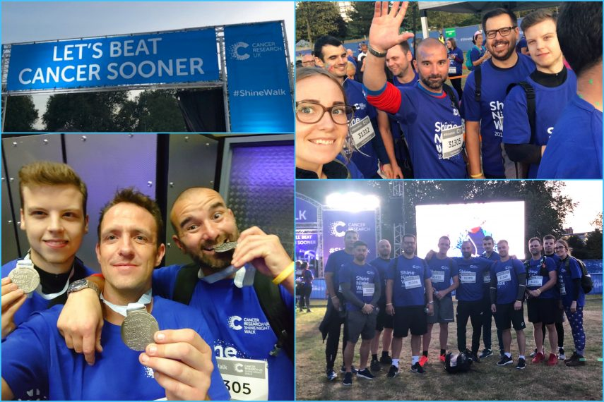 TCC Takes on The Shine Night Walk for Cancer Research UK
